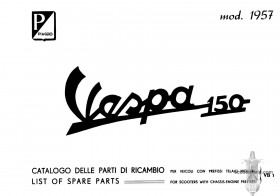 Vespa 150 (VB1T) Parts Book