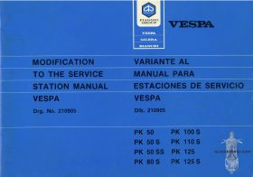 Vespa PK80S Automatica Repair Manual