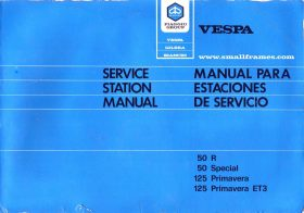 Vespa P125X & P200 Repair Manual