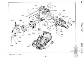 Vespa 50 Special USA (V5B3T) Parts Book