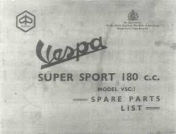 Vespa Super Sport 180 (VSC1T) Owner's Manual