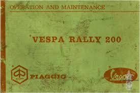 Vespa Rally 200 (VSE1T) Owner's Manual