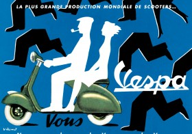 Classic Vespa Scooter Posters