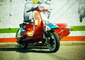 Vespa PX with sidecar