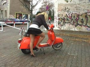 blond_girl_kickstart_vespa_by_poorking